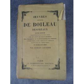 Boileau Despreaux, Œuvres poétiques, (index par Charles Louandre) (classicisme, académie française)