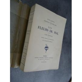 Baudelaire, Les fleurs du mal, les épaves Notice Crépet Paris Louis Conard 1931 Edition critique de référence
