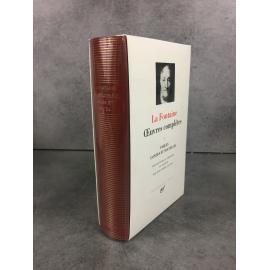 La Fontain,e Bibliothèque de la pléiade NRF Oeuvres1 Fables Contes et nouvelles superbe état de neuf