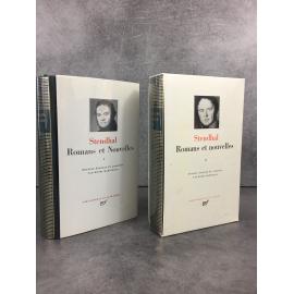 Stendhal Romans et nouvelles I et II Bibliothèque de la pléiade NRF superbe état de neuf édition martineau