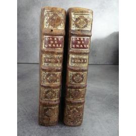 L'art de toutes sortes de chasse et de pêche avec celui de guerir les cheveaux (...) Fortin Rare edition originale 1719