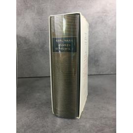 Karl Marx Economie I Bibliothèque de la pléiade NRF Etat de neuf 1994