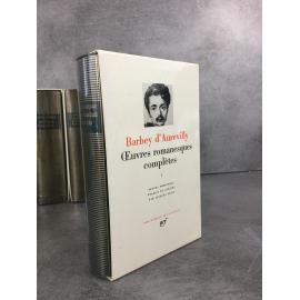 Jules Barbey d'Aurevilly Bibliothèque de la pléiade NRF Œuvres romanesques complètes Tome 1