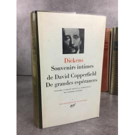 Dickens Charles Bibliothèque de la pléiade NRF Souvenirs intimes de David Copperfield – De grandes espérances