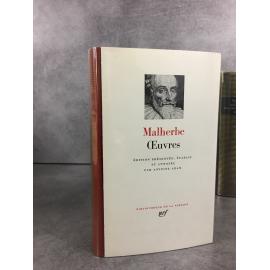 Malherbe Œuvres Bibliothèque de la pléiade NRF bon état proche du neuf 1er tirage Collector