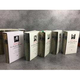 Zola Emile Les Rougon Macquart Collection Bibliothèque de la pléiade 5/5 superbe exemplaire.