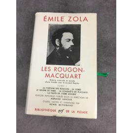 Zola Emile Les Rougon Macquart Collection Bibliothèque de la pléiade Tome 1seul