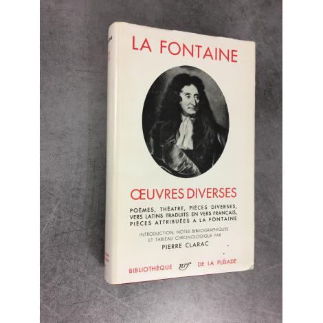 La Fontaine oeuvres diverses Collection Bibliothèque de la pléiade