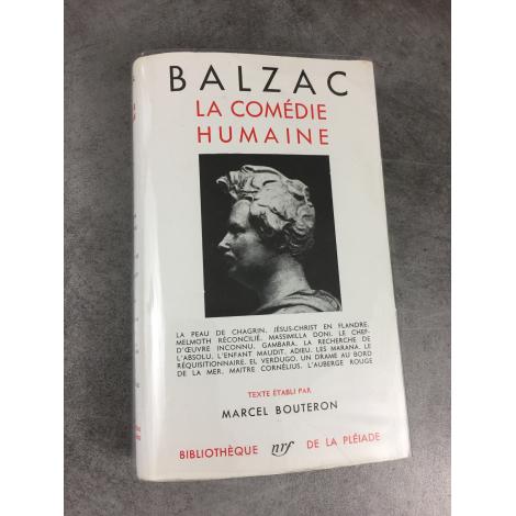 Balzac Honoré Collection Bibliothèque de la pléiade T9 Comédie Humaine la peau de Chagrin épuisé.