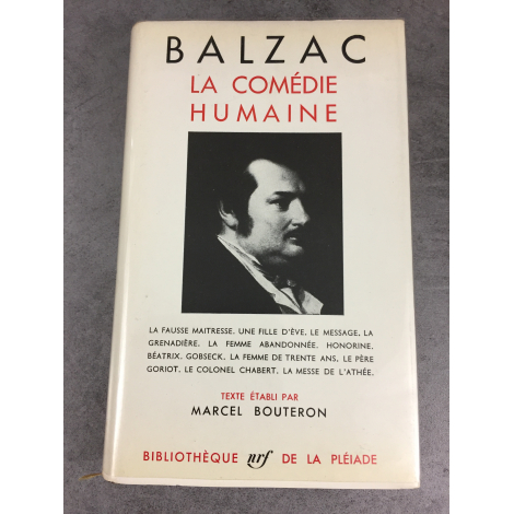 Balzac Honoré Collection Bibliothèque de la pléiade T2 Comédie Humaine la fausse maîtresse épuisé