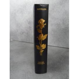 Baudelaire Oeuvres poétiques Jean de Bonnot Bel exemplaire reliure cuir. Tirage de tète fleurs du mal