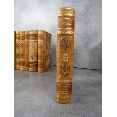 Balzac L'envers de l'histoire contemporaine Collection Garnier Prestige reliure cuir tête dorée