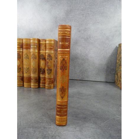 Balzac La femme de trente ans Collection Garnier Prestige reliure cuir tête dorée