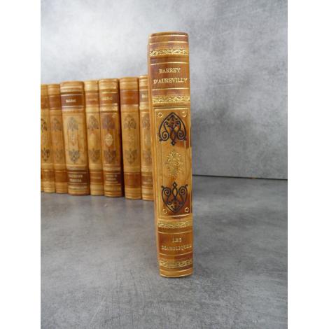 Barbey d'Aurevilly Les diaboliques Collection Garnier Prestige reliure cuir tête dorée