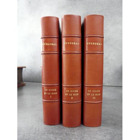 Stendhal Le rouge et Le noir Illustrations de Robaudi Ferroud Maroquin bibliophilie beau livre cadeau.
