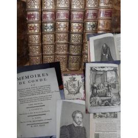 Secousse Denis François, Langlet du Fresnoy Les Mémoires de Condé 1743 6 vol in quarto Réforme guerre histoire religion