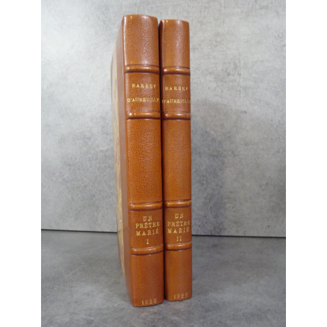 Barbey d'Aurevilly Un prêtre marié bibliophile sur vélin Reliure maroquin signé bel exemplaire