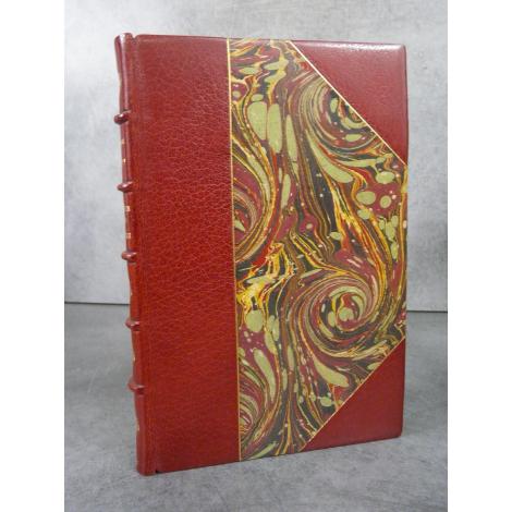 Gaudy Georges Combats sans gloire Edition originale N°4 grand papier, superbe reliure maroquin signée.
