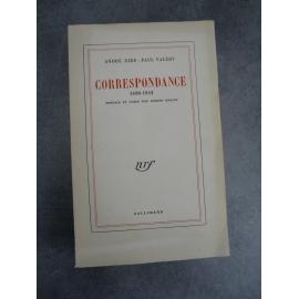 Edition originale André Gide Paul Valéry Correspondance 1890 - 1942 . Paris, Gallimard, 1955,