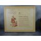 Gradassi Chambord Grande miniature sur céramique encadrée, avec certificat authenticité au dos.