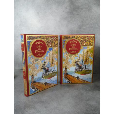 Jules Verne Michel de L'Ormeraie Hetzel Le Pays des Fourrures 2 volumes, état de neuf splendide