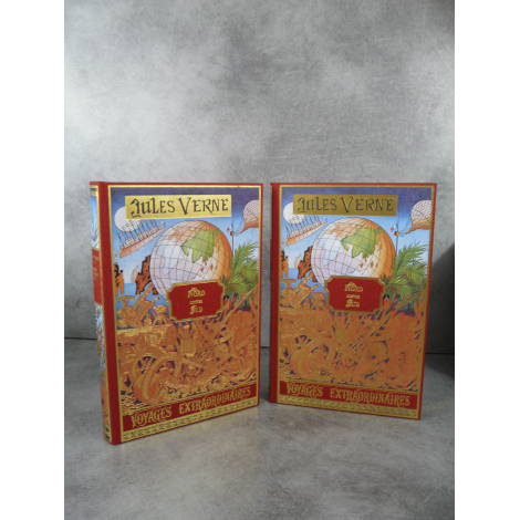 Jules Verne Michel de L'Ormeraie Hetzel Nord contre sud, un billet de loterie 2 volumes, état de neuf splendide