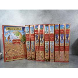 Jules Verne Michel de L'Ormeraie Hetzel 10 vol série 1 complète, état de neuf splendide