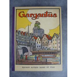 Rabelais Gargantua Pierre Courselles Alfred Mame Enfantina Album illustré 1926 bel exemplaire
