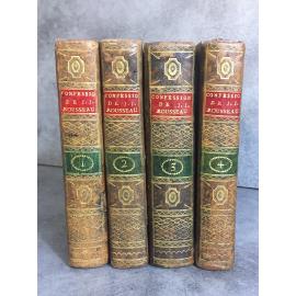 Rousseau Jean Jacques Les confessions Paris Poincot An VI 1797 Présenté par l'éditeur comme la première complète