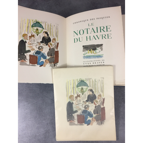Duhamel Georges, Yves Brayer Le notaire du Havre illustré moderne Exemplaire de tète avec suite