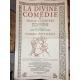 Jean de Bonnot Dante Divine comédie avec affiche souscription Français Italien relié plein cuir Très bel état collector