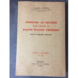 Maurice Gonnaud Ralph Waldo Emerson individu et société dans l'œuvre de Didier 1964