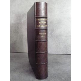 Delachenal Histoire de Crémieux Grenoble Dauphiné 1889 Ecole des Chartes Reliure plein maroquin bibliophilie