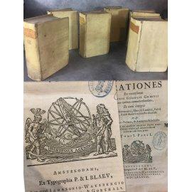 Cicéron Orationes Paul Manuce Edition de Blaeu à la sphère 1689 précieuse édition critique.