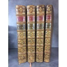 Dictionnaire de Bayle Edition de 1720 4 vol in folio en veau porphyre Philosophie Lumières Linguistique Histoire