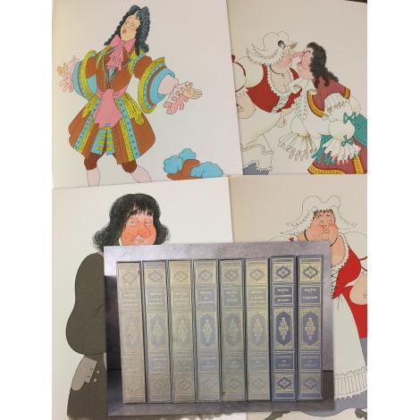 Dubout Molière Oeuvres 8/8 volumes imprimerie nationale Nté sur velin