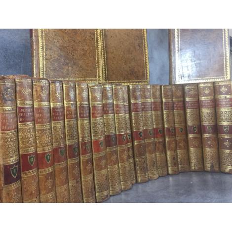 Moreau Principes de morale, de politique discours sur l'histoire de France complet en 21 volumes uniforme rare et précieux.