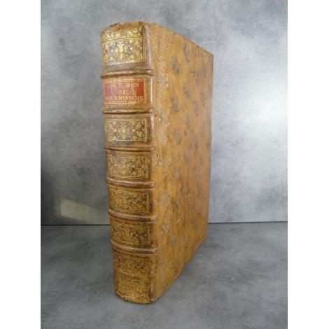 Coutumes du Bourbonnois Auroux du Pommier Fort In folio 1780 Droit Histoire Auvergne Bourbonnais