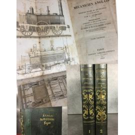 Nicholson Le mécanicien Anglais, reliure romantique, vapeur, train, charpente, ingénierie La Martinière Lyon