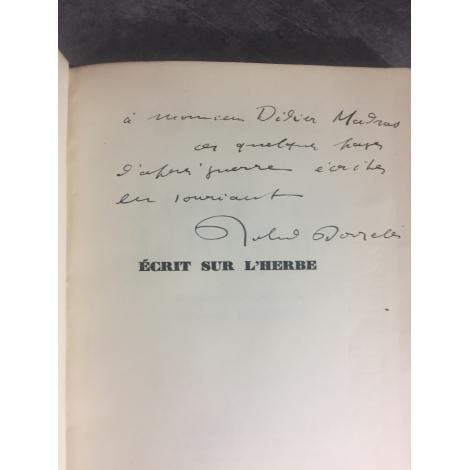 Roland Dorgelès Ecrits sur l'Herbe envoi de l'auteur au photographe et auteur Didier Madras