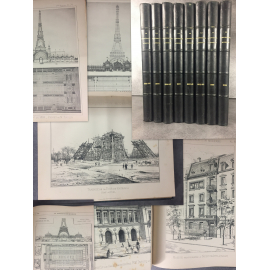 La construction moderne Du rare numero1 de 1885 à 1889 Architecture Immeubles plans planches Exposition 1889 Eiffel....
