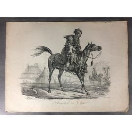 Carle Vernet Grande Lithographie Originale Cheval Horse Mameluch en vedette Delpech