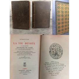 François de Sales Introduction à la vie dévote Techener pour les bibliophiles François Maroquin Papier fin.
