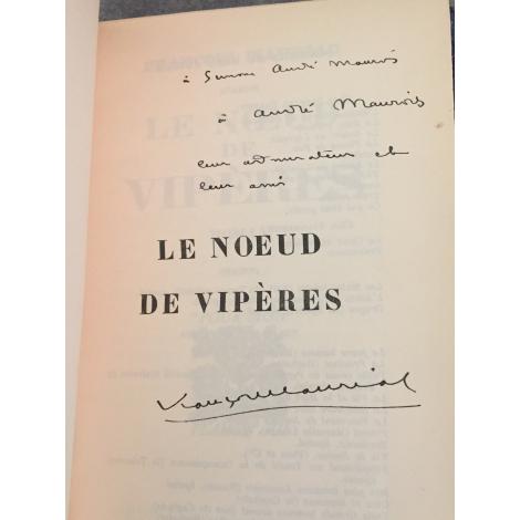 Mauriac François Le Noeud de vipères Edition originale offert à Simone de Cavaillet et André Maurois.