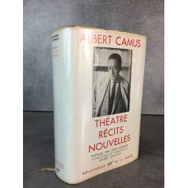 Albert Camus Bibliothèque de la pléiade NRF Théâtre Récits nouvelles superbe état épuisé.