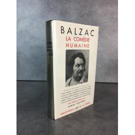 Collection Bibliothèque de la pléiade NRF Balzac comédie humaine T1