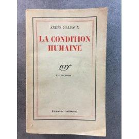 Malraux La condition humaine 1933 Edition originale papier d'édition bon exemplaire mention fictive de 4 eme