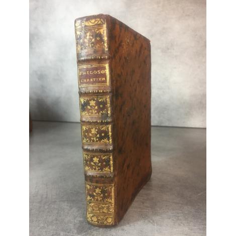 Anonyme Sigorgne Pierre Le philosophe chrétien ou lettres à un jeune homme entrant dans le monde Edition originale 1765