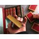 Bibliothèque portative du voyageur, exceptionnel exemplaire relié plein maroquin et sur papier fin . Empire Napoléon Simier