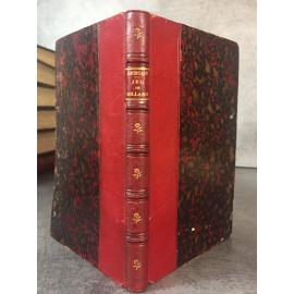 Berger Principe de Jeu de Billard de 1855 Précis historique et cours en 66 leçons, reliure cuir du temps